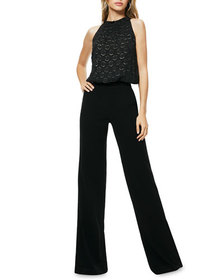 Ramy Brook Leona Dot Applique Blouson Jumpsuit