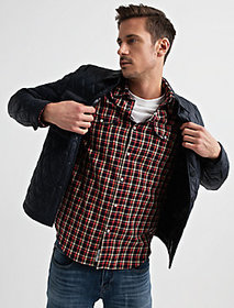 Diamond Quilted Shirt Jacket