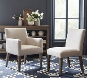 PB Classic Square Upholstered Dining Chairs