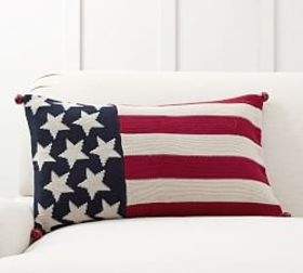 Flag w/ Bells Pillow Cover