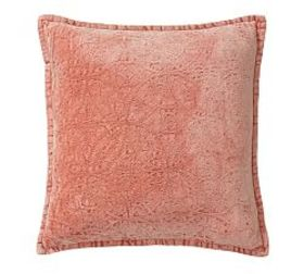 Chenille Jacquard Pillow Cover - Coral