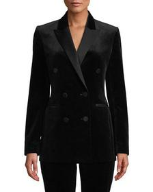Theory Stretch Velvet Tux Jacket
