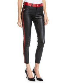 RtA Ryland Two-Tone Skinny Leather Pants