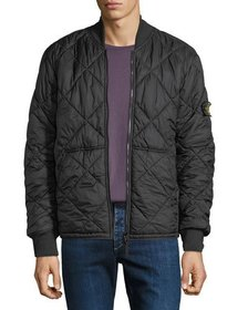 Stone Island Men's Quilted Lightweight Zip-Front O