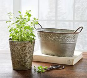 Pressed Tin Cachepot Collection