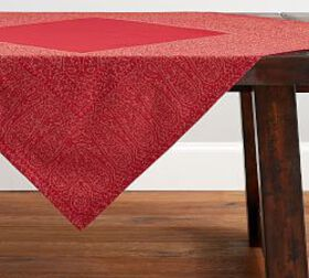 Red Jacquard Table Throw
