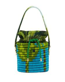 Maison Alma La Isla Hard Wrapped Bucket Bag