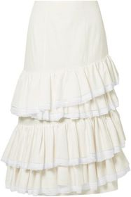 BROCK COLLECTION Sadie tiered gauze-trimmed cotton