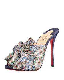 Christian Louboutin Moniquissima Paisley Red Sole