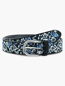 Sprigged Floral Embroidered Belt