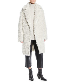Vince Shaggy Open-Front Long Coat