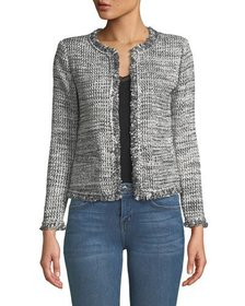 Iro Unplug Open-Front Tweed Jacket