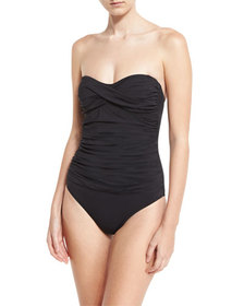 Letarte Essentials Bandeau-Top One-Piece Swimsuit