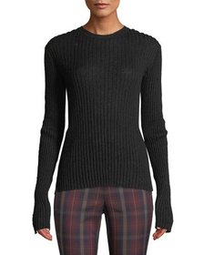 Rag & Bone Donna Ribbed Crewneck Mohair Top