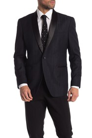 Kenneth Cole Reaction One Button Shawl Lapel Perfo