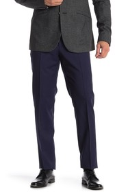 BOSS Navy Shark Flat Front Trousers