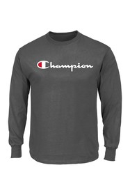 Champion Long Sleeve Script Logo Shirt (Big & Tall