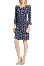 BODEN Jacquard Modern Sleeve Cotton Blend Dress