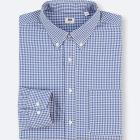 MEN EXTRA FINE COTTON CHECKED LONG-SLEEVE SHIRT