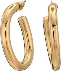Steve Madden Open Hoop Post Earrings