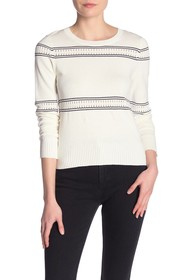 French Connection Skye Knit Striped Long Sleeve Sw