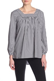 French Connection Sardina Stripe Tie Back Top