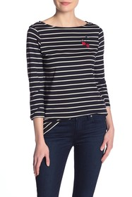 French Connection Cherry Love Striped Top