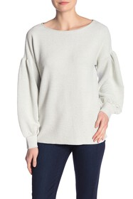 French Connection Ellen Textured Blouson Sleeve Sw