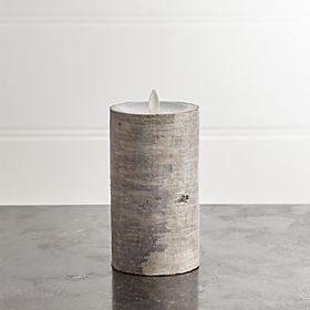 White Birch 3x6 Flameless Pillar Candle