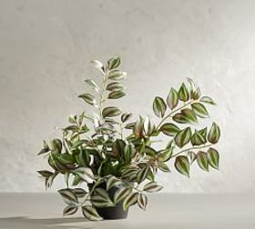 Faux Potted Wandering Gypsy Houseplant