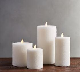 Premium Flicker Flameless Sugar Wax Pillar Candle