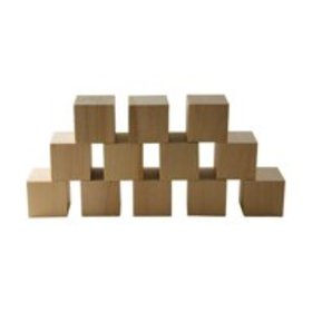 """Wooden Cubes – 1.5"""" Inch - Baby Wood Square Blocks"""