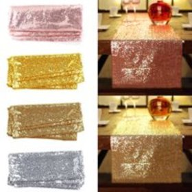 "Glitter Sequin Table Runners, 12""x118''/108""/72''"