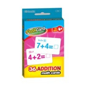 BAZIC Addition Flash Cards (36/Pack), Box Pack of