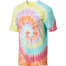 Men's Tie Dye Logo Tower Tee