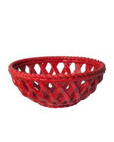 Red Pierced Basket