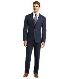 1905 Collection Slim Fit Stripe Suit - Big & Tall
