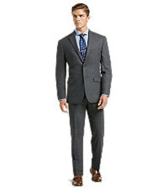 1905 Collection Tailored Fit Sharkskin Suit