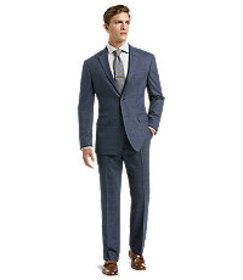 1905 Collection Tailored Fit Windowpane Suit - Big