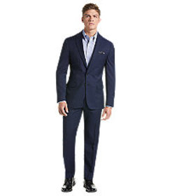 Traveler Collection Slim Fit Micro Grid Suit