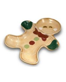 Holiay Gingerbread Cottage 2 Section Serving Dish