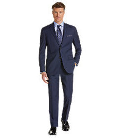 Traveler Collection Tailored Fit Box Weave Suit
