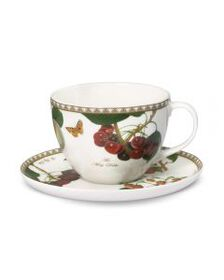 Les Fruits du Jardin Tea Cup And Saucer Set