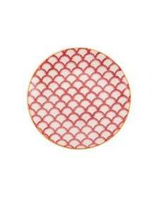 Red Geometric Appetizer Plate