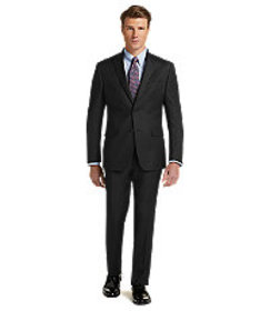 Traveler Collection Tailored Fit Check Suit - Big