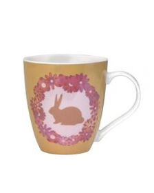 Floral Wreath Rabbit Mug