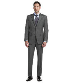 Signature Collection Tailored Fit Pindot Windowpan