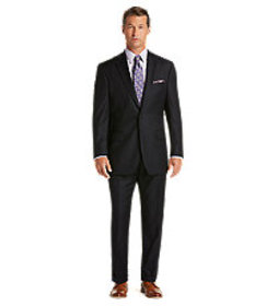 Signature Collection Traditional Fit Pinstripe Sui