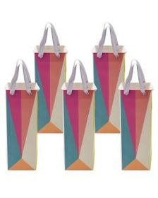 Set of 5 Candy Color Block Origami Geo Wine Gift B