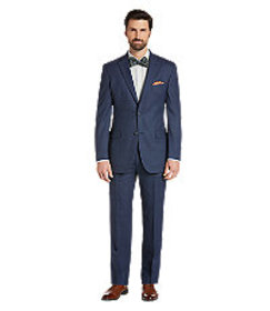 Traveler Collection Tailored Fit Windowpane Suit -
